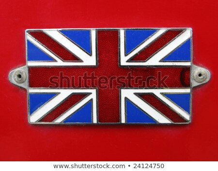 Vintage britânico union jack bandeira distintivo vermelho Foto stock © latent