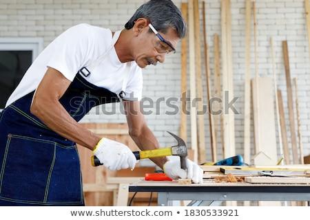 casal · eletricista · mulher · casa · homem · trabalhando - foto stock © photography33