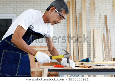 Senior with handyman Stock photo © photography33