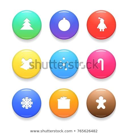 Mikulás gomb ikon fényes ikon gyűjtemény víz Stock fotó © mikemcd