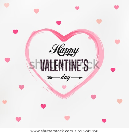 Stock fotó: Valentines Day Card With Hearts For Congratulation To Holiday