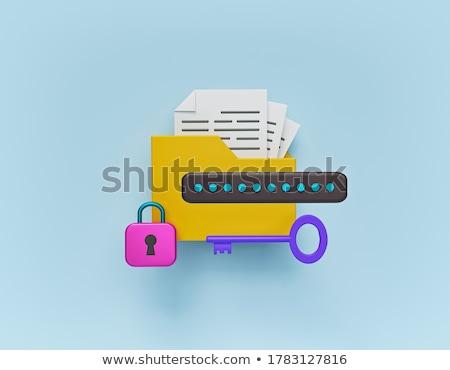 Geel · kantoor · map · opschrift · business · mail - stockfoto © nasirkhan