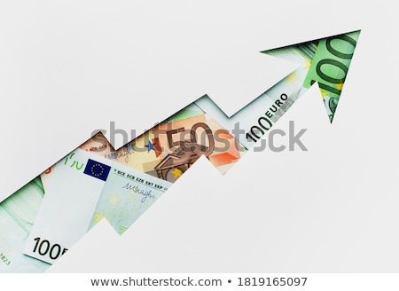 Euro banknotes and growing arrow Stock photo © Ansonstock