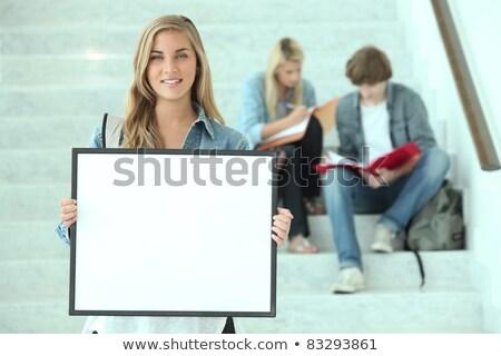Trois adolescents étudier étapes bâtiment travaux Photo stock © photography33