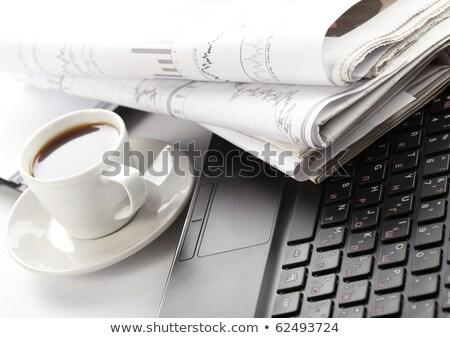 üres · újság · zsemle · fehér - stock fotó © devon