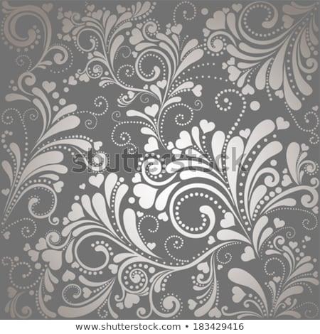 vettore · vintage · pattern · floreale · cuore · texture · carta - foto d'archivio © hermione