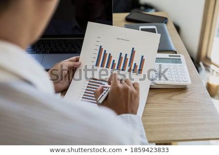 calculadora · cuaderno · aislado · blanco · oficina · financiar - foto stock © photography33