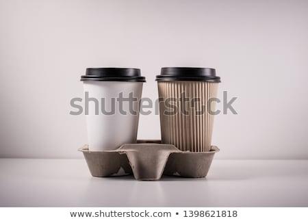 empty cardboard cup stock photo © dvarg