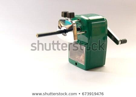 Mechanisch puntenslijper potlood witte metaal onderwijs Stockfoto © Witthaya