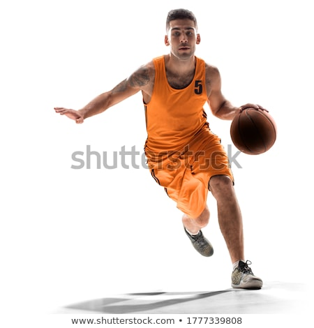 Man landschap basketbal team witte Stockfoto © photography33