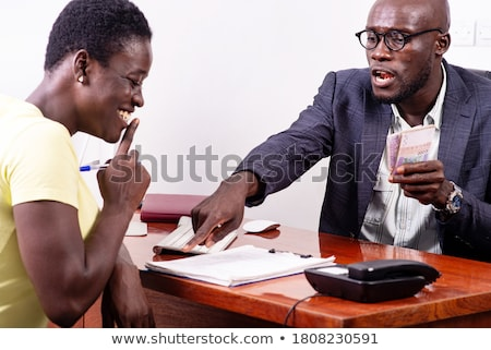 real estate businessman and his secretary working Stock photo © photography33