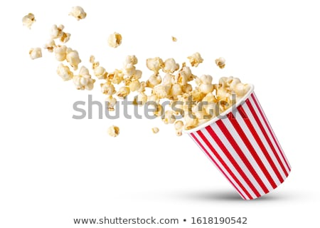 попкорн рисованной иллюстрация поп кукурузы ковша Сток-фото © czaroot