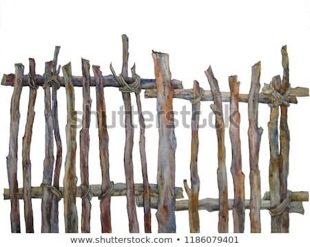 woven wooden fence Stock photo © RuslanOmega