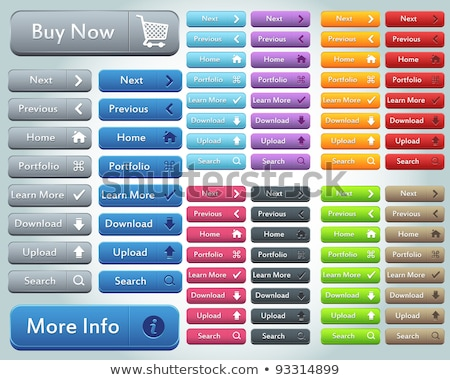 Teia botões conjunto brilhante cores Foto stock © liliwhite