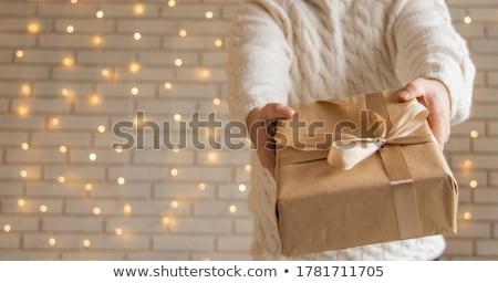 Tatil hediyeler Noel süsler Stok fotoğraf © macropixel