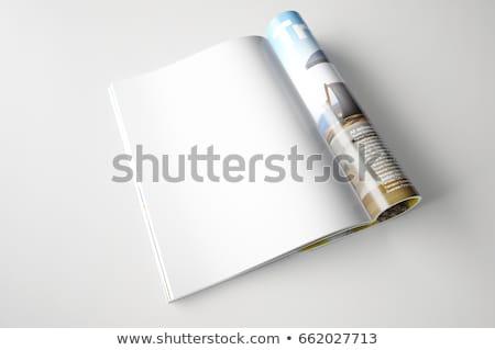 Abrir revista modelo escritório escrita leitura Foto stock © fixer00