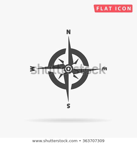 вектора · металл · компас · земле · путешествия · красный - Сток-фото © pathakdesigner