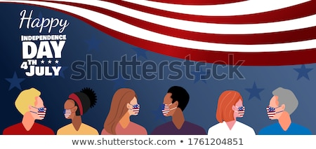 Flag on face Stock photo © stevanovicigor