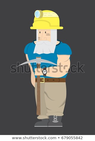 Bearded worker with pick-ax Stock photo © photography33