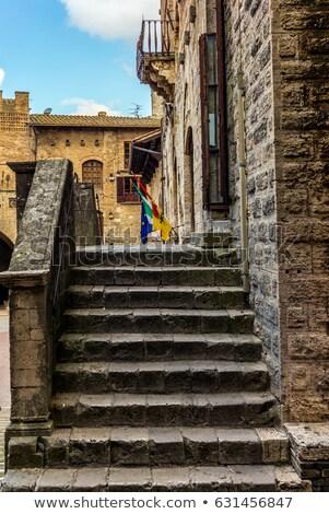 izlenim · kasaba · yol · Bina · duvar · sokak - stok fotoğraf © lianem