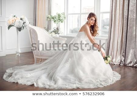 Stockfoto: Mode · model · vrouwelijke · jurk · bruiloft