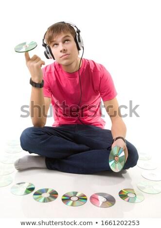 Jonge man compact gezicht muziek oog Stockfoto © photography33