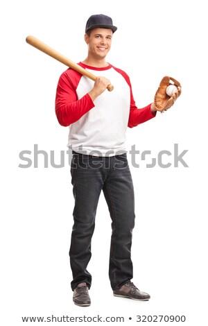 Guy with bat Stock photo © pressmaster