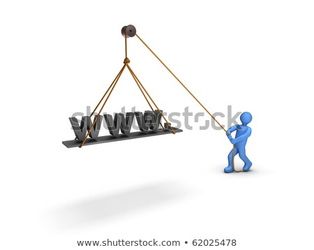 Construction Worker Holding Www Photo stock © 6kor3dos