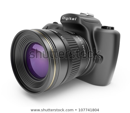 Moderno digitale fotocamera teleobiettivo lenti nero Foto d'archivio © photosoup