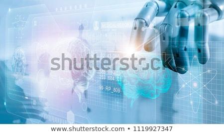 vrouwelijke · menselijke · robot · technologie · Rood - stockfoto © aliencat
