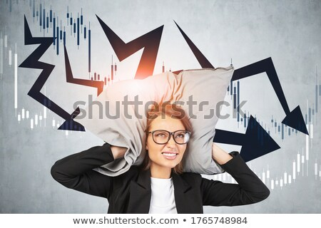 Businesswoman straining her ear Stock photo © photography33