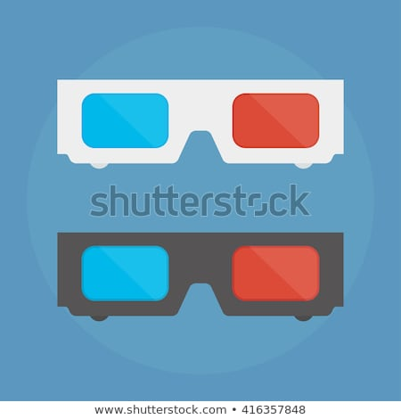 Red-blue paper glasses Stock photo © boroda