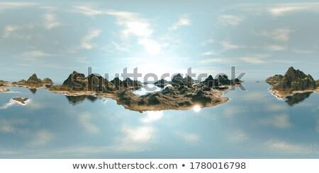 hdr · морской · пейзаж · удивительный · закат · вверх · небе - Сток-фото © garethweeks