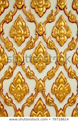 花柄 · 伝統的な · タイ · スタイル · 芸術 · 壁 - ストックフォト © ruslanomega