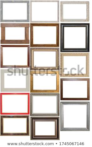 Antiquarian wood frame stock photo © yul30