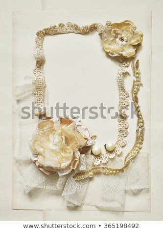 background frame with jewels and shiny threads stock photo © yurkina