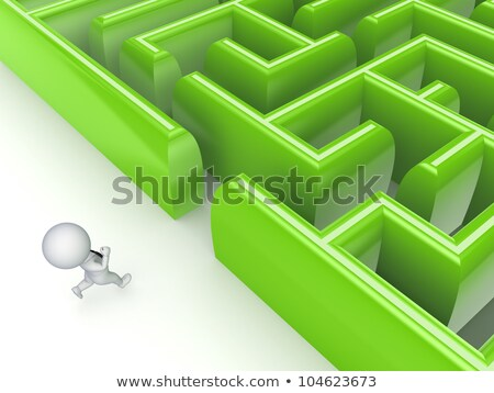 3d small people - difficult decision stock photo © AnatolyM
