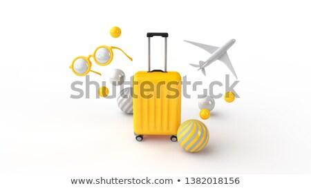3D · vliegtuig · business · technologie · aarde · netwerk - stockfoto © 4designersart