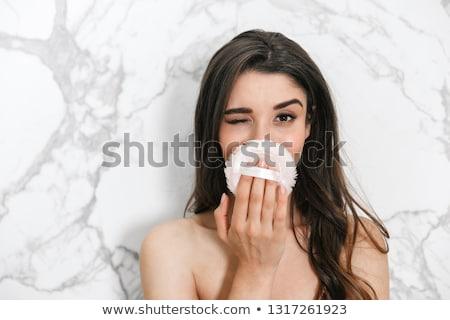 moda · retrato · topless · mulher · jovem · make-up · molhado - foto stock © wavebreak_media