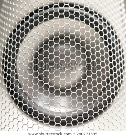 metal grill mesh pattern of loud speakers detail stock photo © bertl123