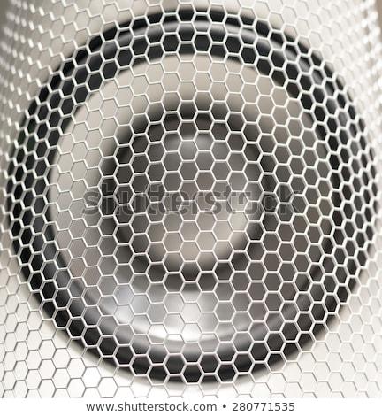 hangfalak · futurisztikus · fém · hatalmas · hifi · 3d · illusztráció - stock fotó © bertl123