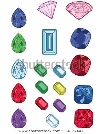 Diamond emerald jewel, vector illustration  Stock photo © carodi