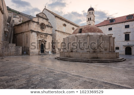 view on dubrovnik fountain from the city walls croatia stock photo © anshar