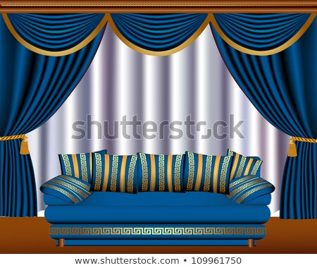 window blinds with cyst and sofa Stock photo © yurkina