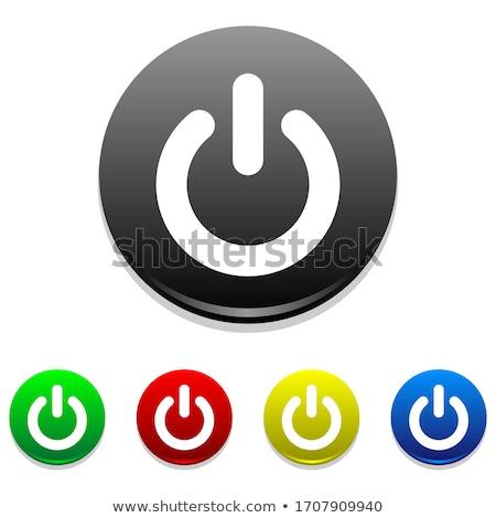 Kijelentkezés erő el ikon illusztráció terv Stock fotó © alexmillos