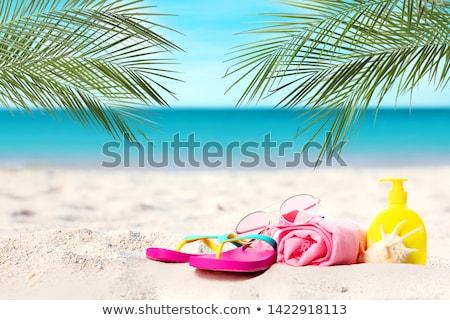 日焼け止め剤 砂浜 ハワイ 自然 海 ストックフォト © EllenSmile