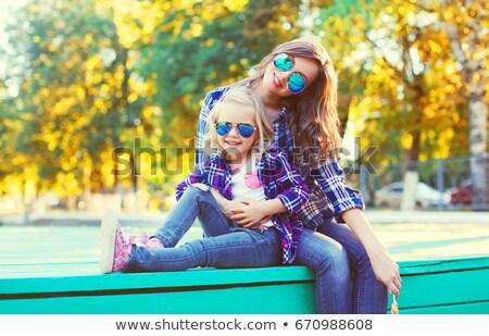 mother and daughter wearing sunglasses Stock photo © Jasminko