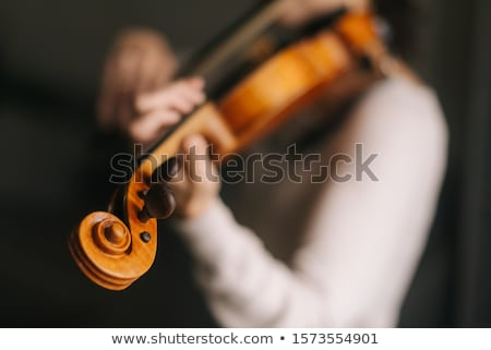 close up of girl holding violin stock photo © zzve