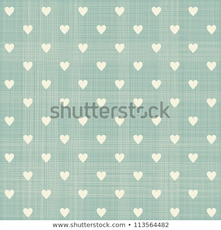 cute vector background with vintage hearts stock photo © mcherevan