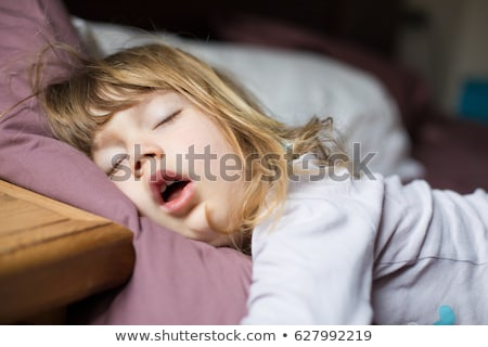 Cute Baby Sleeping With Mouth Open Stock photo © dash